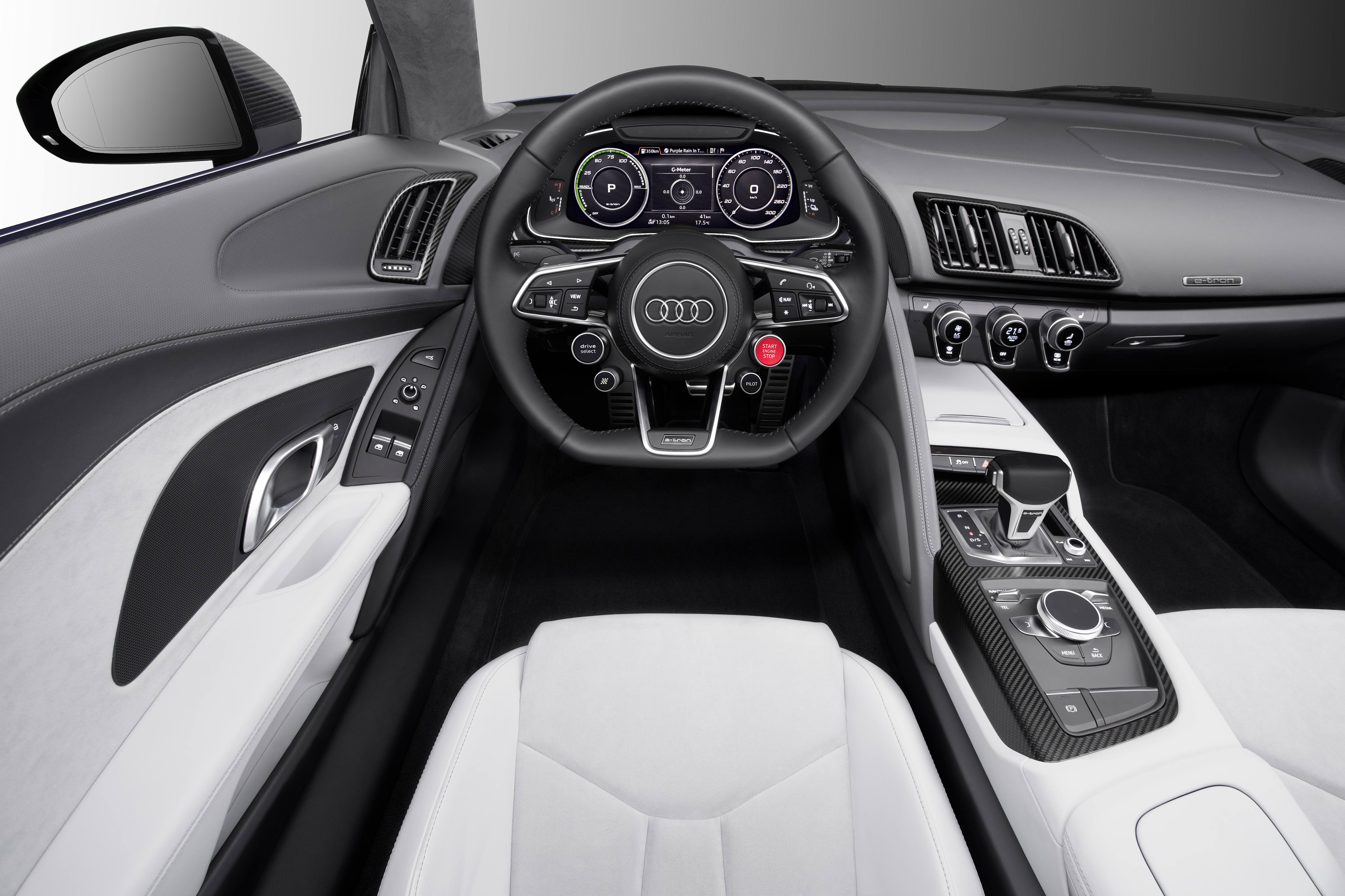 Audi R8 e-tron Piloted driving Concept Model interior features and design