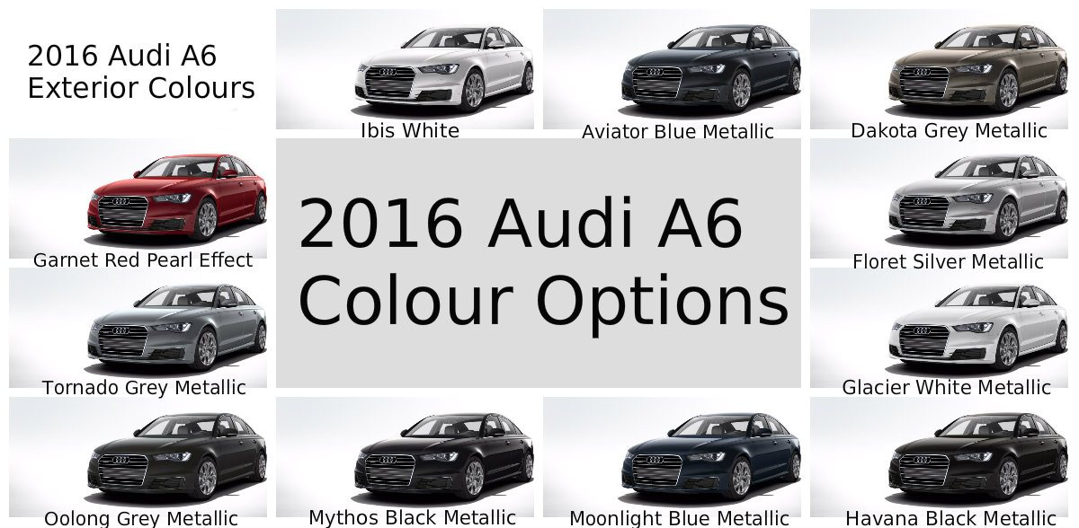 2016 audi a6 colour options 2016 audi a6 color options for canada