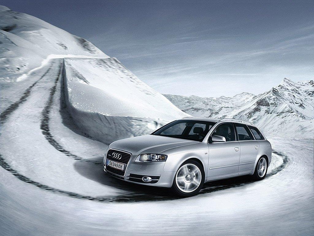 Audi A4 Mountain Snow