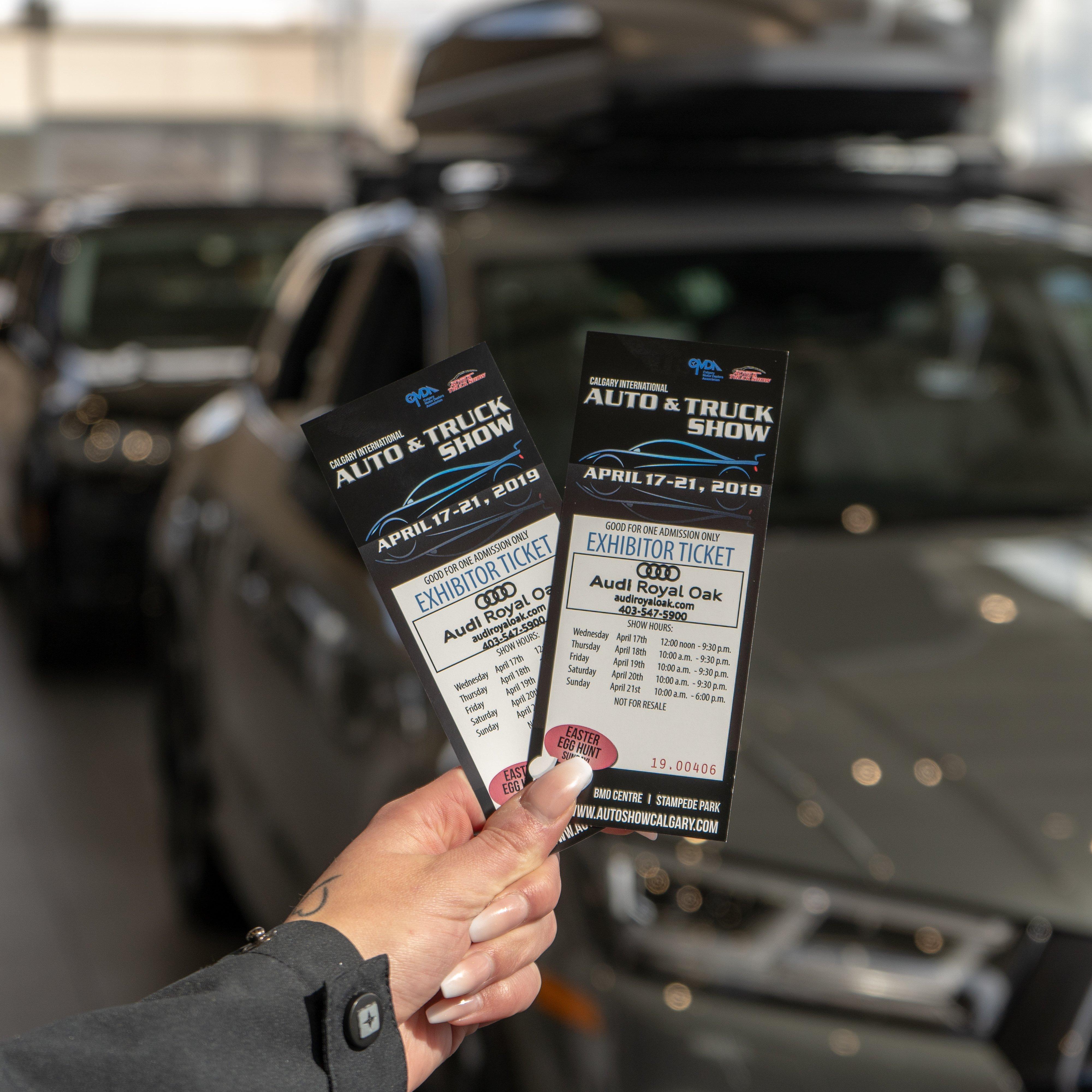 Calgary Auto Show Tickets - Winners Week 1 - Audi Royal Oak